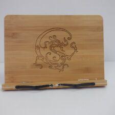 More details for book stopper bamboo reading rest cookbook holder *new*