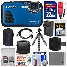 Canon PowerShot D30 HD Shock & Waterproof GPS Digital Camera 12.1 MP Kit NEW