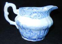 Antique 1830s Ridgway Oriental China Blue White Oriental Creamer