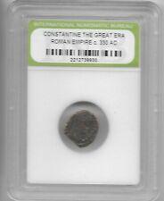 Rare Old Ancient Antique CONSTANTINE GREAT Roman Empire Era War Coin LOT:US-Q10