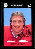 Steve Korte #71 signed autograph 1991 Arkansas Collegiate Collection Card