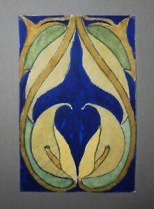 ART NOUVEAU W/C WHITE CALLA LILLIES/FLORAL DES SIGNED 'FRANCOIS ADELINE AUS...'