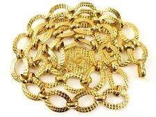 r2562 Auth CHANEL 2 3 Vintage Gold Plated Round CC Medallion Chain Belt