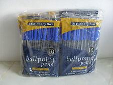 Job Lot / Trade Pack 100 Blue Ballpoint Pens