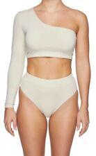 MYRA SWIM One-Shoulder Bikini Top Nude - size S NWT
