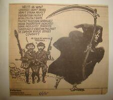 Roy Peterson Canada Newspaper Caricaturist 1985 Lebanon Beirut War Israel