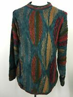 VTG 90s Tundra Canada Sweater Hip Hop 3D Baggy Textured Cosby Biggie Mens L