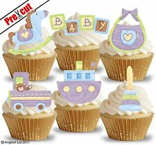 PRE-CUT BABY TOYS IV. EDIBLE WAFER PAPER CUP CAKE TOPPERS PARTY DECORATIONS