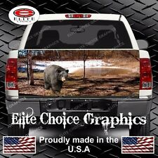 Black bear Truck Tailgate Wrap Vinyl Graphic Decal Sticker Wrap