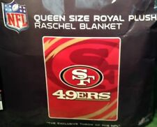 Queen Size 76' X 94' NFL San Francisco 49ers Niners Football Plush Throw Blanket
