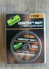 FOX EDGES CORETEX MATT GRAVELLY BROWN MATT COATED BRAID 35lb 20m CAC436