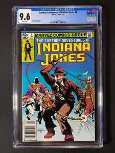 Further Adventures of Indiana Jones #1 CGC 9.6 (1983) - RARE Newsstand Edition