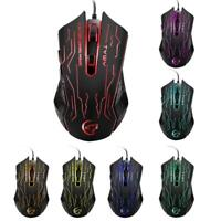 3200DPI Wired Gaming Mouse LED Optical Mice Gamer PC Laptop Computer Mice