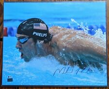 MICHAEL PHELPS Signed Autographed 16x20 Gold Medal Swimming BAS COA USA OLYMPICS