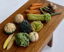 Miniature Dollhouse Museum Artisan Hand Sculpted & Painted Bisque Vegetables
