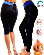 Sauna HOT Weight Loss Sweat Workout Pants Capris Slimming Cellulite PHONE POCKET