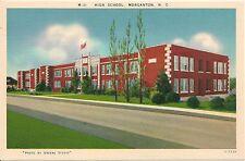 High School Morganton NC Postcard