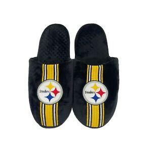 Pittsburgh Steelers NFL Men's Team Stripe Slipper, 4 Sizes Available, FREE SHIP