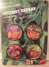 1971BASKETBALL STARS1INSTANT REPLAY Mattel Toy Jerry West Oscar Robertson All!