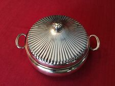 Vintage Gorham Heritage Silverplated Round Covered Casserole & Glass Insert