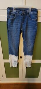 Justice Jean Jeggings Size 12  White Bottom