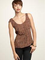 GAP PRINT TIE-SHOULDER Blouse Women's M Medium Sleeveless Summer Top