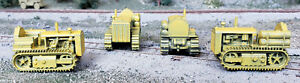 HO 1/87 scale Caterpillar crawler #4, yellow