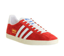 Adidas New Gazelle OG Mens Suede Leather Trainers Black Red Blue Navy