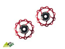 Galets dérailleur ROUGE 11 dents alu 7075, JOCKEY WHEEL 11T CNC machined - NEW