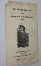 The Schola Cantorum Church of St John the Evangelist, Boston - 1945 Booklet AUTO