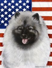 Patriotic (2) Garden Flag - Keeshond 320171