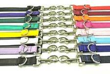 Police Style Double Ended Dog Training Lead 5ft Leash Adjustable 20 Colours