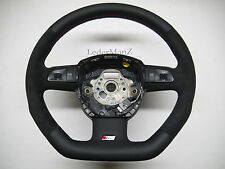 AUDI A3 8P A4 8E A6 flat bottom steering wheel NONE-paddle suede + Nappa 4F0124A