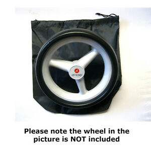 GOLF TROLLEY WHEEL COVERS SUITS ELECTRIC CART WHEELS - ONE PAIR - In Black