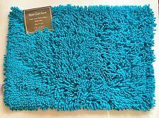 "NEW SPA COMFORT TURQUOISE BLUE MICROFIBER BATH RUG CARPET,FLOOR MAT (17"" X 24"")"