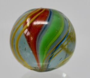 ANTIQUE GERMAN MARBLE - LOVELY NM DIVIDED CORE MARBLE 17.75MM - Lot M14