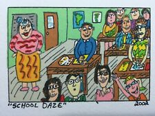 "James RIZZI: Original Farblithographie ""SCHOOL DAZE"", 3D Vorlage"