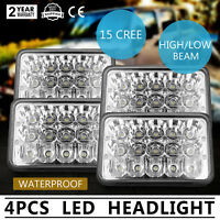 "4Pcs 4x6"" LED Headlights Sealed Headlamp High/Low Beam Cree Light FREE SHIPPING"
