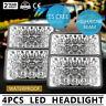 80 Series LED headlight 4 x 6 Inch 60 SERIES Square H4 Work Light High/Low Beam