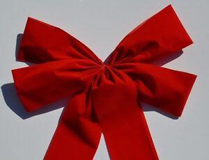Wetterfeste rote Riesen Schleife, Adventsdeko, Weihnachten oder Riesengeschenk