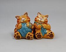 52107 Keramik Designer-Salz/Pfeffer-Streuer Strickende Katzen Jameson&Tailor