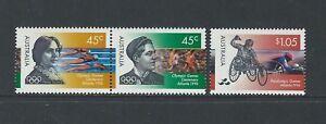 AUSTRALIA - #1540-#1542 - 100th ANNIVERSARY OF MODERN OLYMPIC GAMES SET (1996)