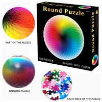 JBuntes Regenbogen Rundes Puzzle Erwachsene Kinder DIY Spielzeug Puzzle Papier