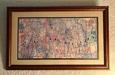 "BEN SHAHN Vintage Framed Offset MCM Lithograph ""STLL MUSIC"" (The Empty Studio)"