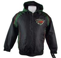 Minnesota Wild Men Full-Zip Hooded Locker Winter Jacket NHL Black Size Large