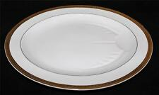 "Bernardaud Limoges SANTEUIL 16 3/4"" Oval Platter w/Juice Well, Gold Encrusted"