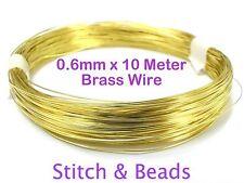 Brass Gold Jewellery Beading Wire 0.6mm x 10 Meter 23 Gauge Metal Craft Finding