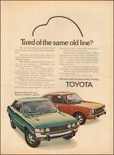 1973 Vintage ad for Toyota`Retro Car Celica Corolla Photo Red (022316)