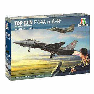 Italeri 1422 US Navy Fighter School Top Gun F-14 1:72 Model Aircraft Kit.