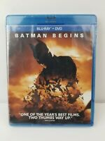 Batman Begins (Blu-ray + DVD, 2008) NEW